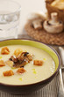 Parmentier potato cream with mushrooms and bread crumbs