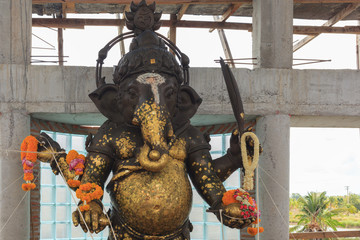 Ganesha, Hindu God, under construction