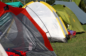 tents where they sleep  people