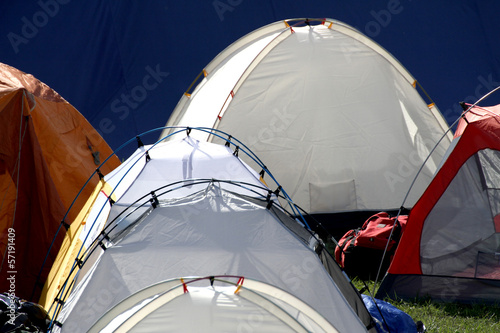 igloo tents in a campsite