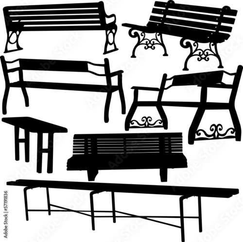 bench silhouette 1 - vector
