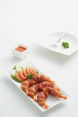 Shrimp warp bacon 2