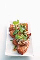 Spicy salmon salad 1