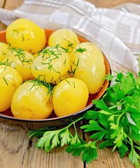 Potatoe boiled with dill and parsley