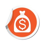 Money bag with dollar sign. Vector illustration