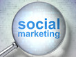 Marketing concept: Social Marketing with optical glass
