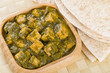 Palak Paneer - Curry made with paneer with pureed spinach
