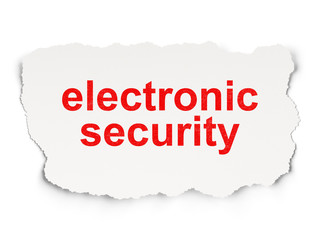 Privacy concept: Electronic Security on Paper background