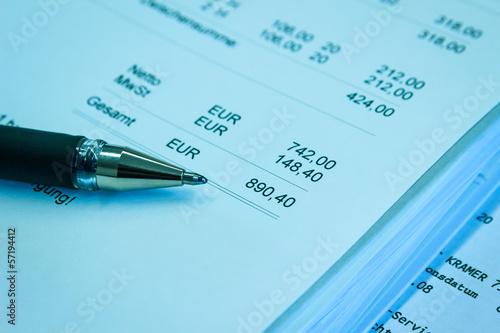 Rechnungssumme Fakturierung