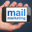 Marketing concept: Mail Marketing on smartphone