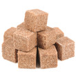 Cinnamon Sugar Cubes Isolated on White Background