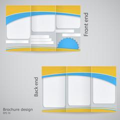 Tri-fold brochure design. Brochure template design