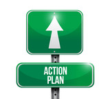 action plan road sign illustration design