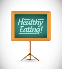 healthy eating wood presentation board