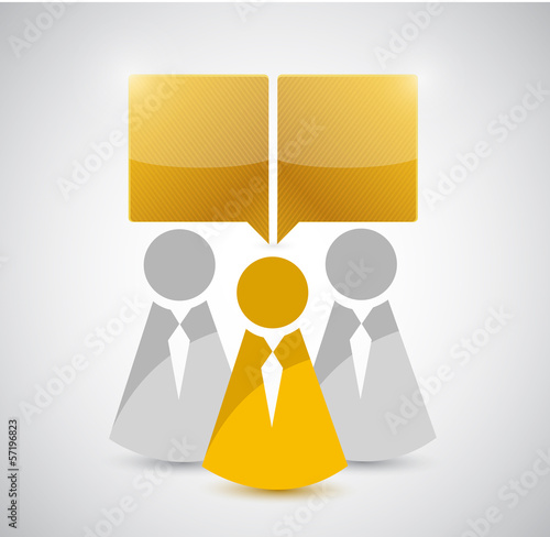 people and communication illustration design
