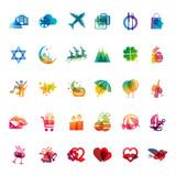 Set of holidays icons