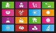 biotechnology metro style icon sets - rectangle icon sets
