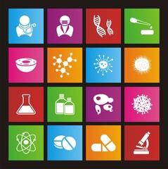 biotechnology metro style icon sets