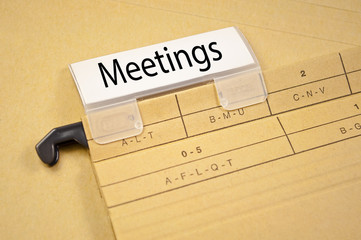 Ordner mit Meetings