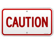 Caution Rectangular Notice