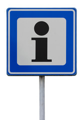 Road sign indicating an information point