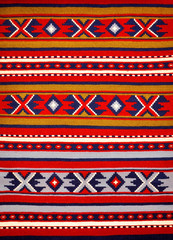 Segment of hand-woven carpets and rugs, Bulgarian  patterns .