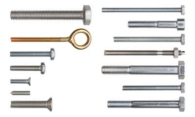 Set of fasteners.