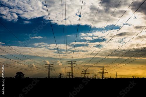 słup linii wysokiego napięcia, elektrownia - 57200430