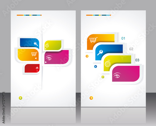Vector brochure template design with abstract elements.