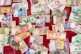 Different banknotes from countries all over the world