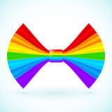 Vector rainbow colors bow