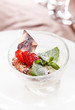 dessert with strawberry