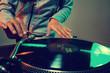 dj using equipment