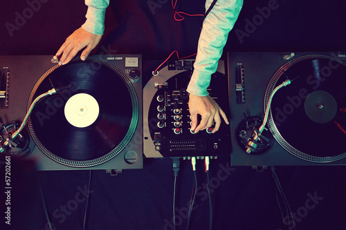 dj using equipment - 57202661
