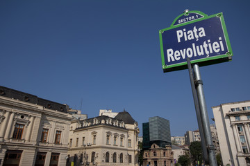 Revolution square, Bucharest, Romania