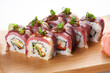 Japanese rolls with becon