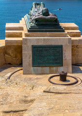 Siege Bell monument with the Ode of Remembrance