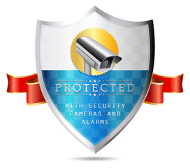 Labels - Security camera, protected