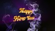 Happy New Year Gold Text in Particles