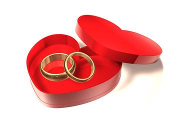 Herz Verpackung - Ring