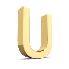 Gold letter U