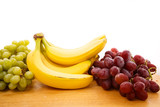 White and Red Grapes with Bananas