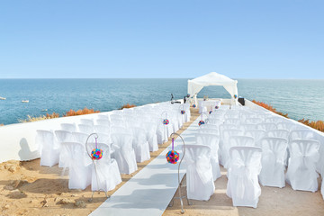 A marvelous place in the decorations and flowers for the wedding