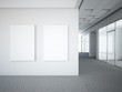 office interior with two white frames - 57207809