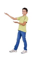 chico en posición de demostración
