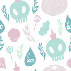 Cute Halloween pattern. Seamless vector