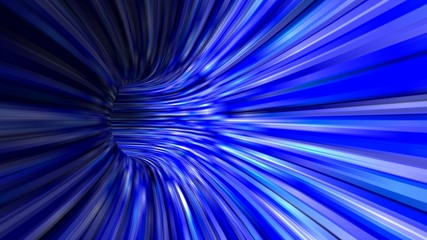 Abstract blue 3d tunnel background