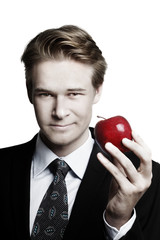Businessman and apple