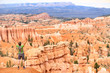 Cheering celebrating happy hiker in Bryce Canyon