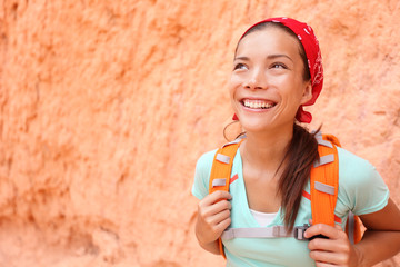 Hiking - Hiker woman portrait in Bryce Canyon